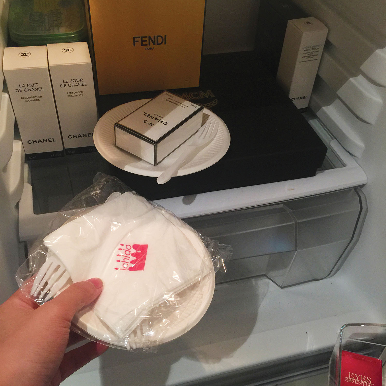 His fully-stocked refrigerator