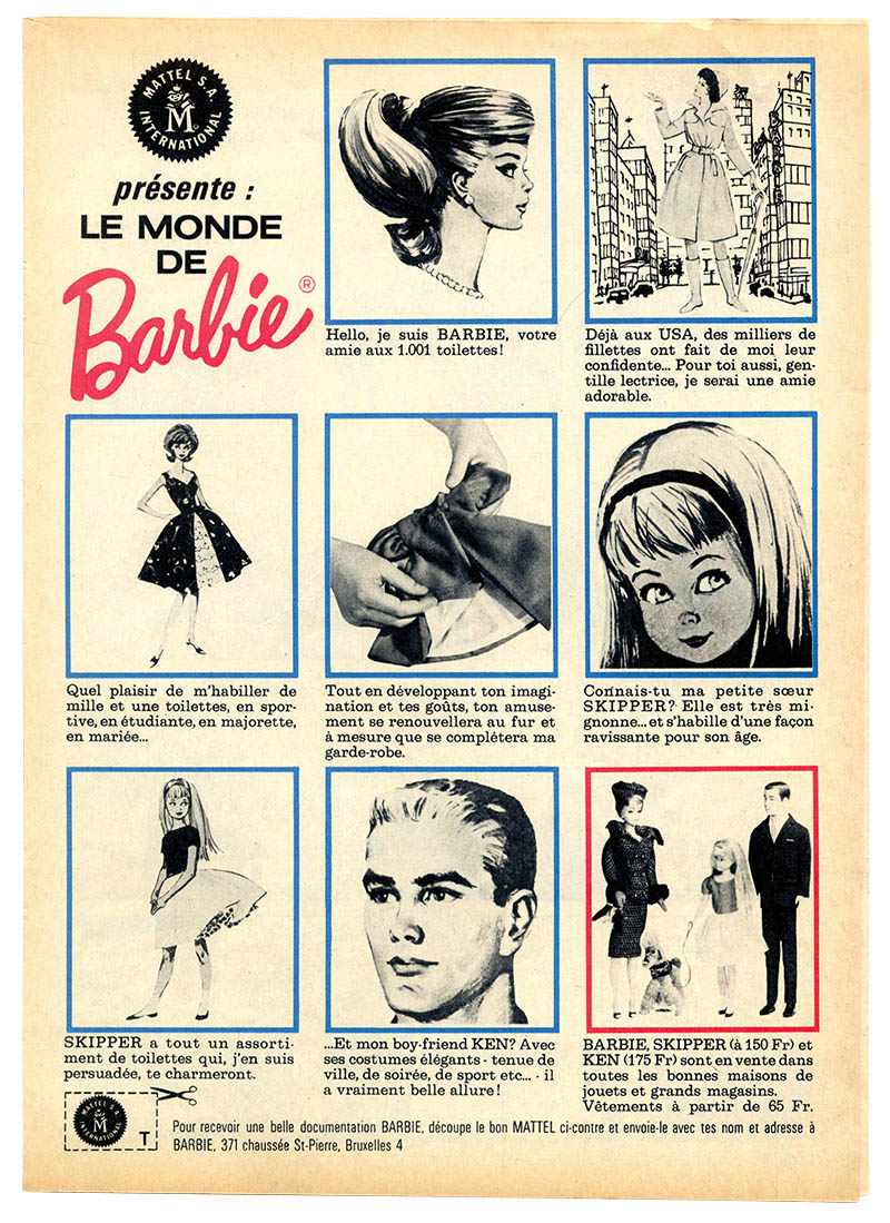 8. Vintage Barbie ad from 1964
