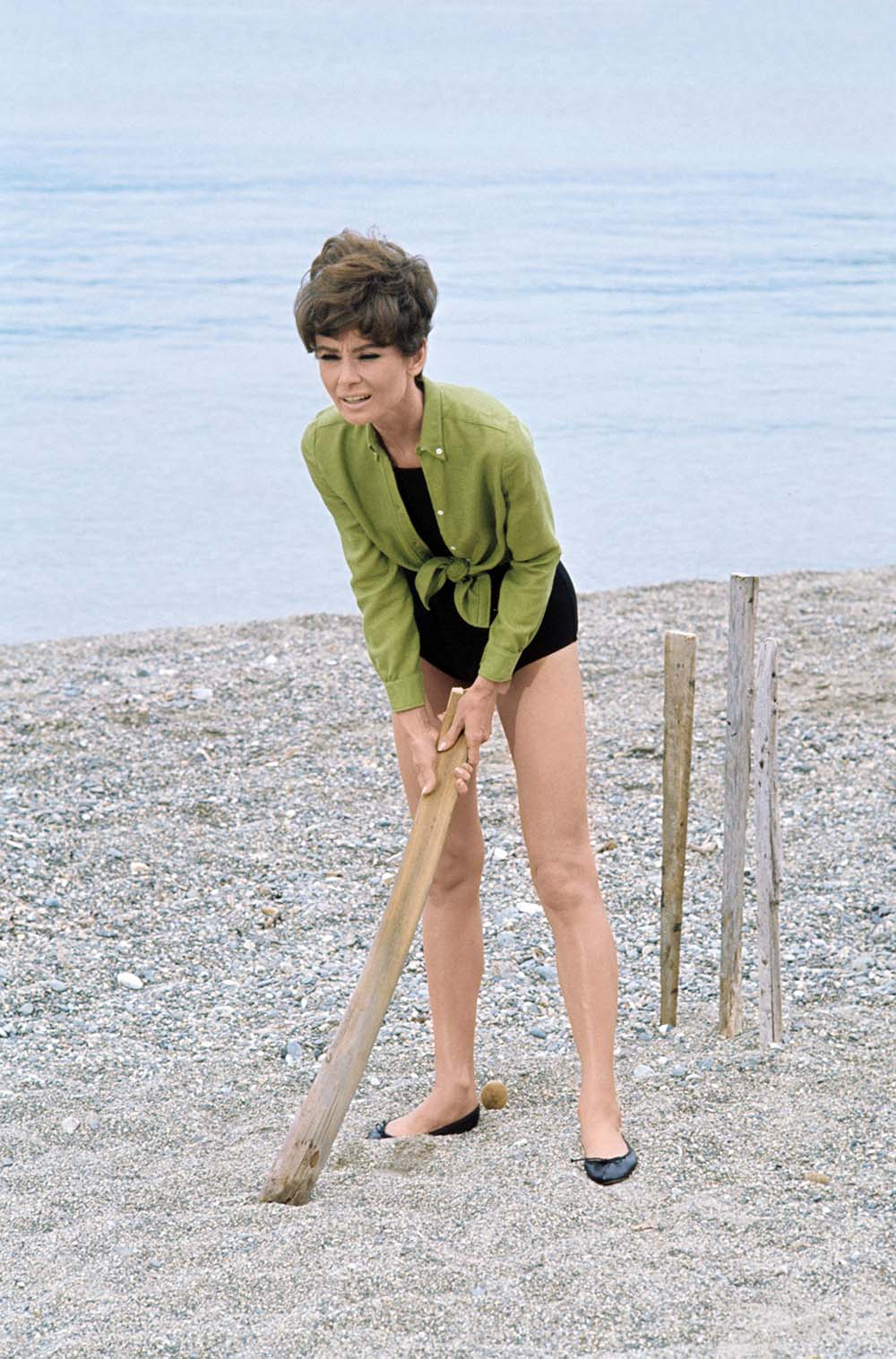 Audrey Hepburn on the set of  Two for the Road , 1967
