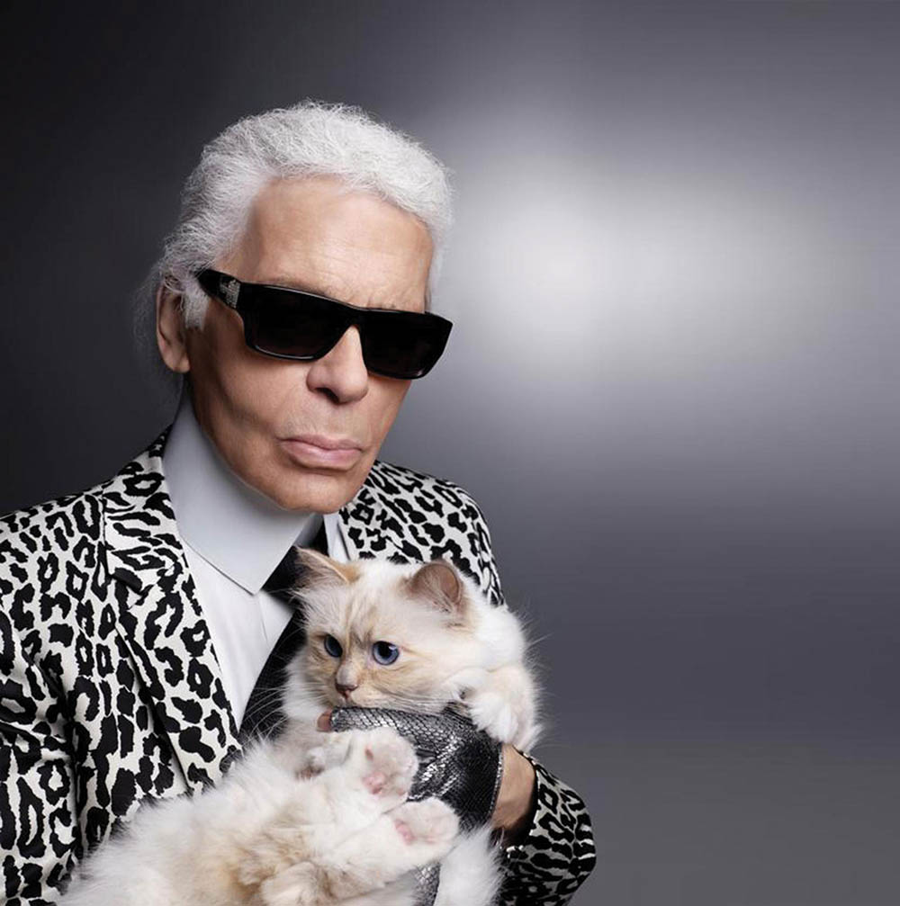 Karl Lagerfeld and his beloved cat, Choupette Lagerfeld