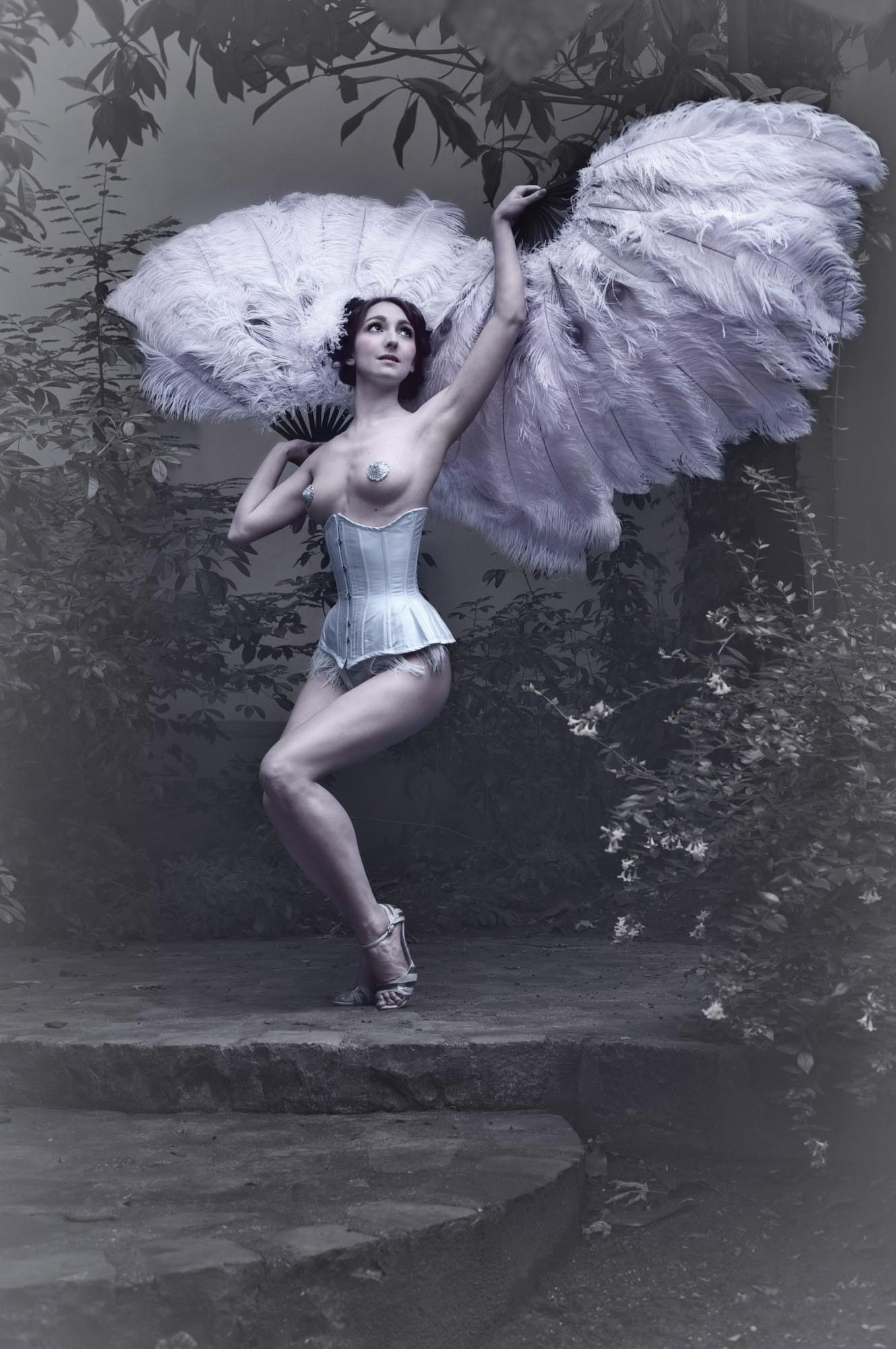 Spreading her angelic wings