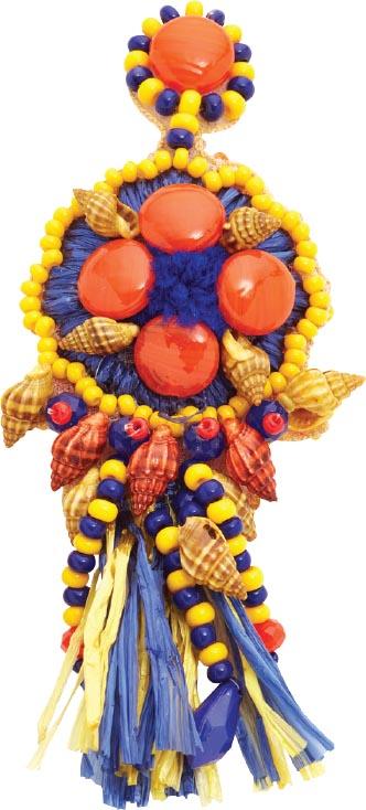 African Raffia Coliseum earrings, <br>All Things Mochi (shopbop.com)
