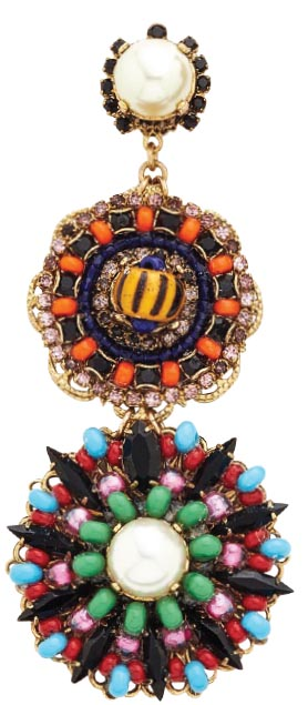 Imitation Pearl Safari disc earrings, <br>Erickson Beamon (shopbop.com)