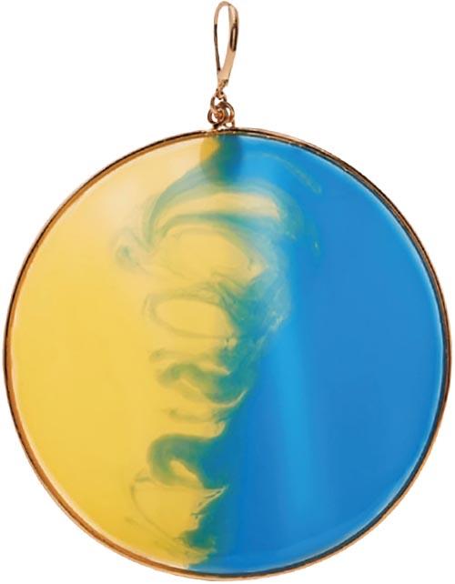 Gold-tone enamel earrings, <br>Missoni (net-a-porter.com)