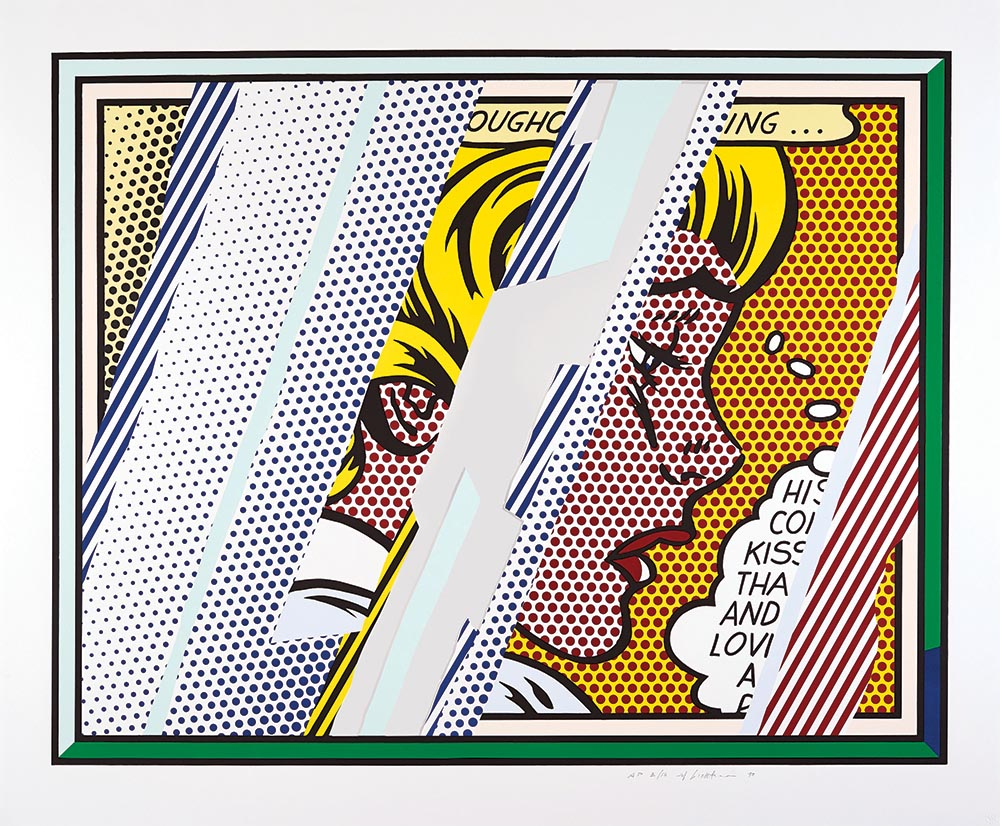 Reflections on Girl  (1990) by Roy Lichtenstein