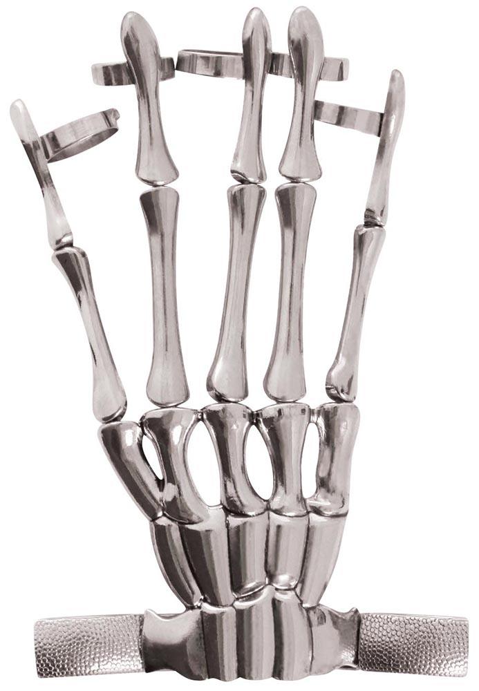 Skeleton hand ring bracelet, <br>Hot Topic