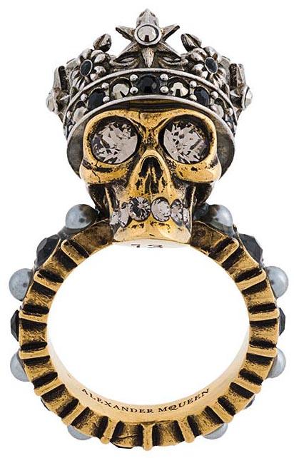 King Skull Ring, <br>Alexander McQueen