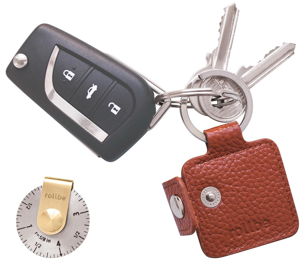 Mala Leather Braemar Double Key Fob Keyring Featuring a Highland Stag