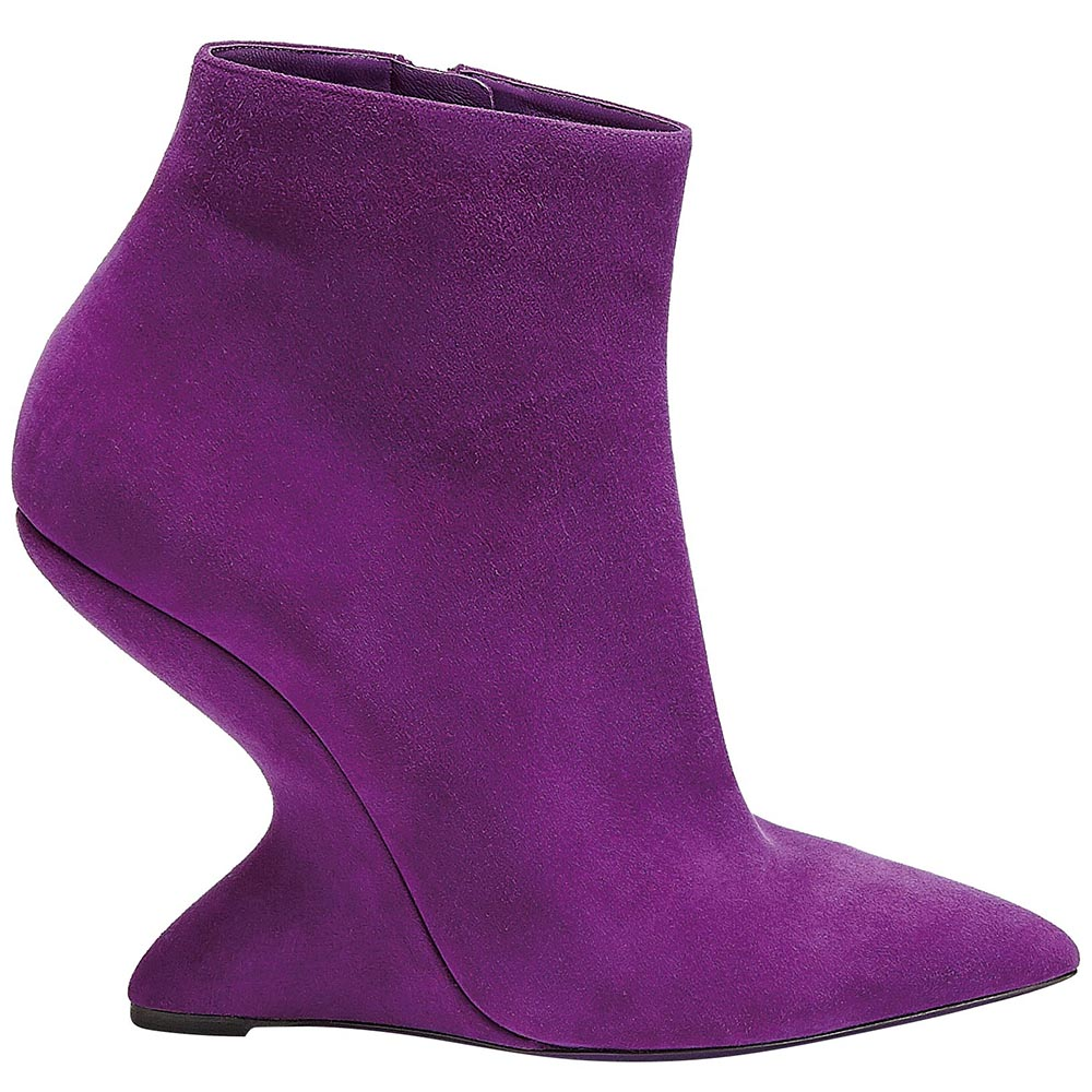 F Wedge bootie, Salvatore Ferragamo