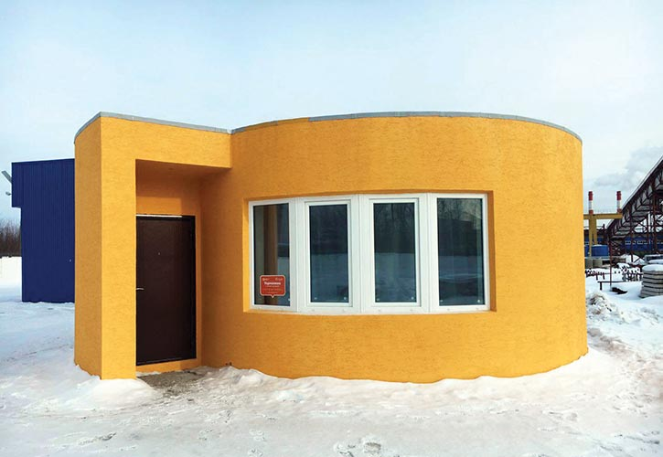 A 3D-printed house in Russia