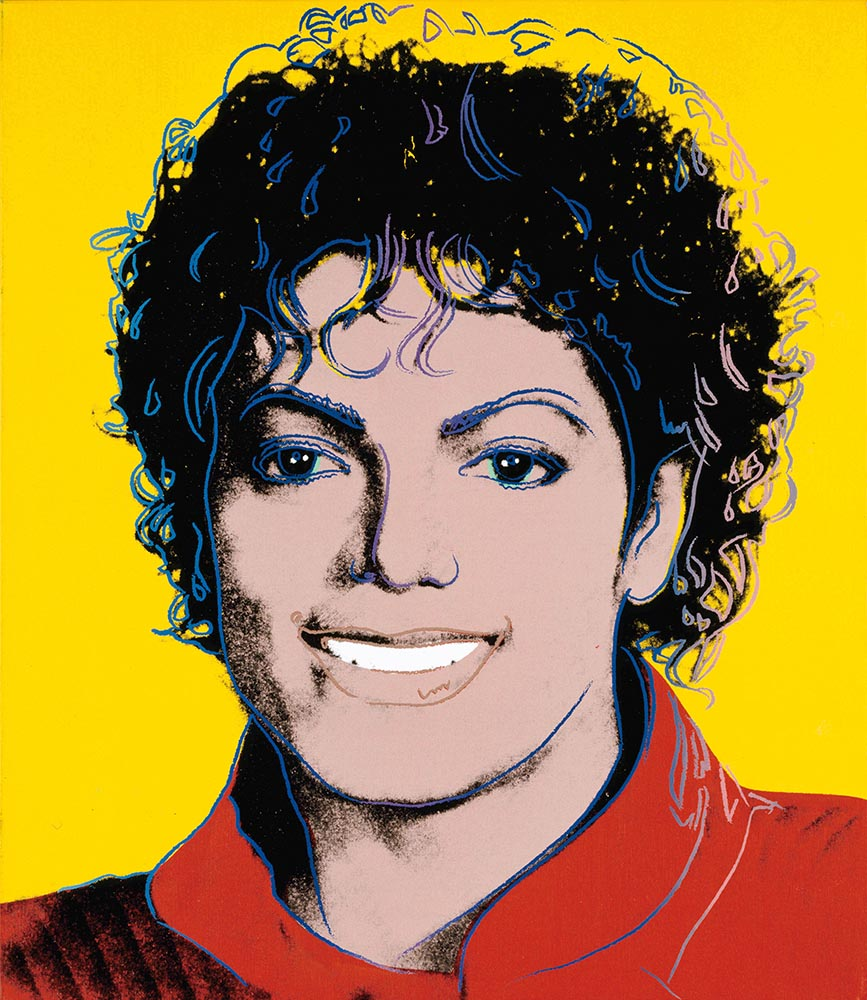 Michael Jackson  (1984) by Andy Warhol, from the National Portrait Gallery, Smithsonian Institution, Washington DC; a gift of  Time  magazine