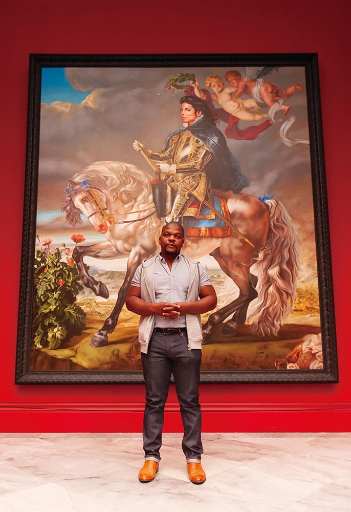 Kehinde Wiley and his memorable work  Equestrian Portrait of King Philip II (Michael Jackson)  (2010)