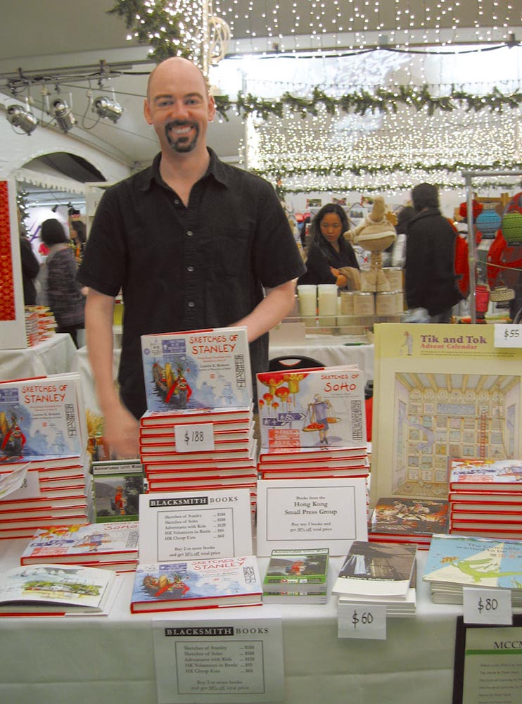 Blacksmith Books' Pete Spurrier at the Hong Kong Book Fair