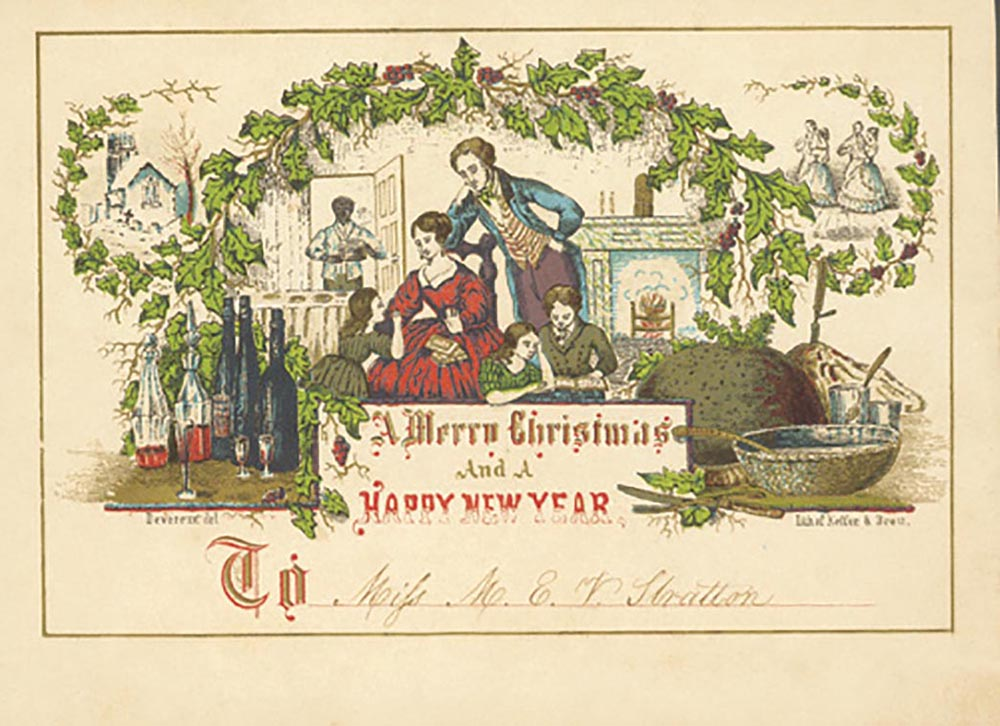One of the earliest American Christmas cards (Philadelphia, c.1849-1853)