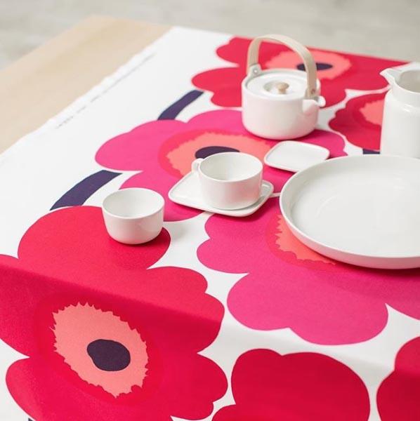 Marimekko's iconic Unikko print was designed in 1964 by Maija Isola