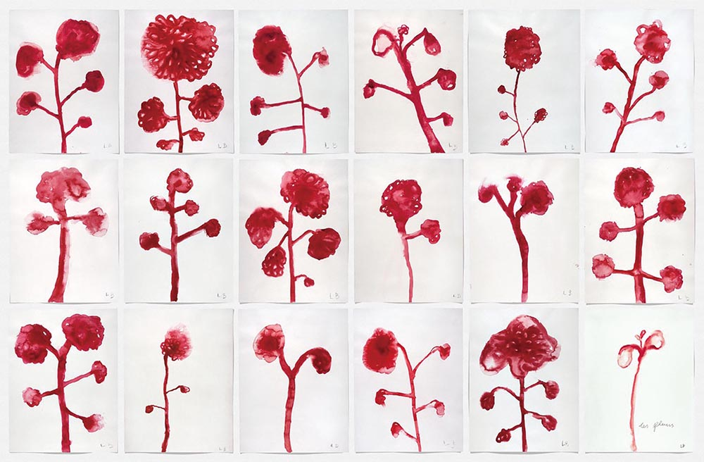 Louise Bourgeois,  Les Fleurs , 2009, gouache on paper, suite of 12, 59.6cm x 45.7cm