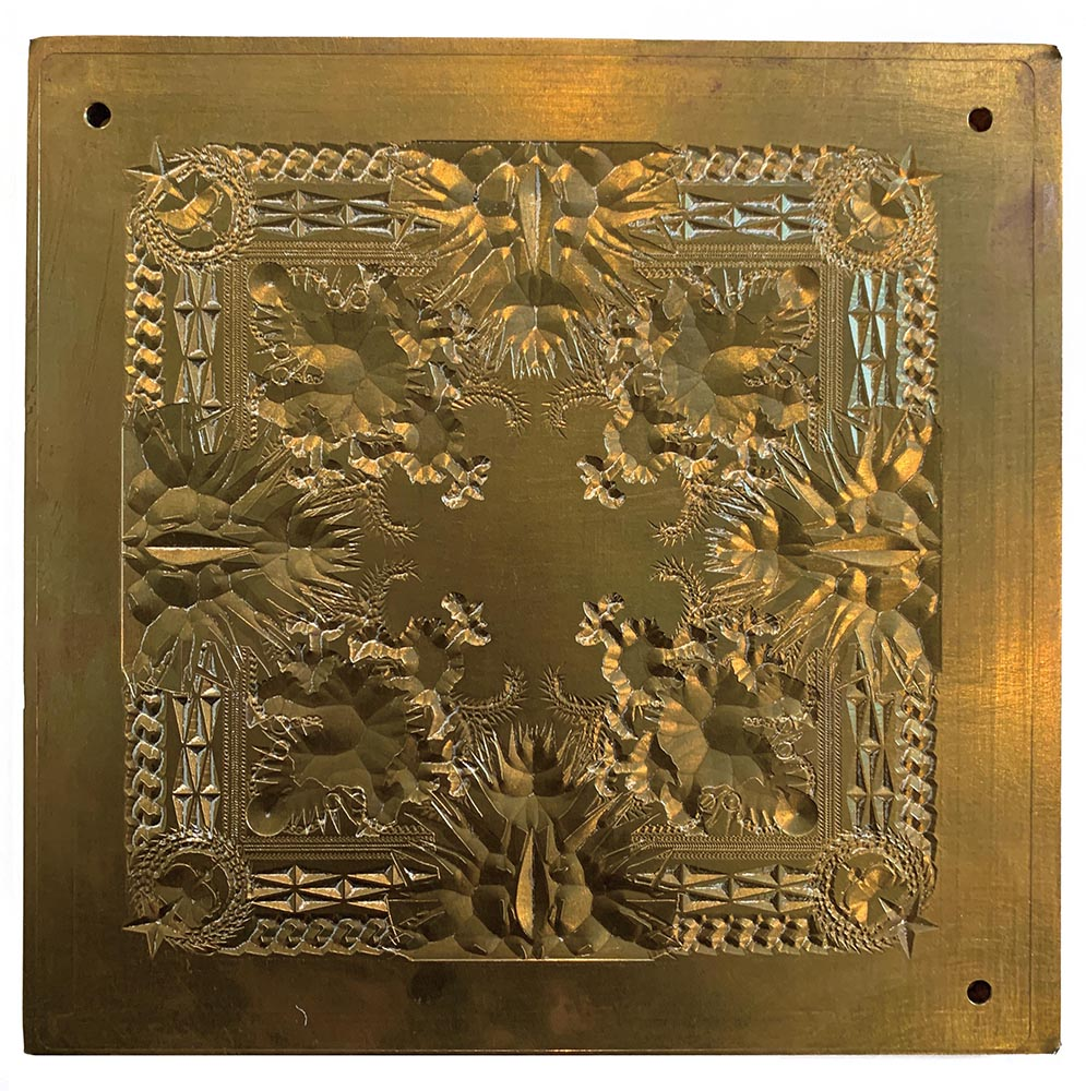 Press plate for Jay-Z & Kanye West's Watch the Throne album, 2011