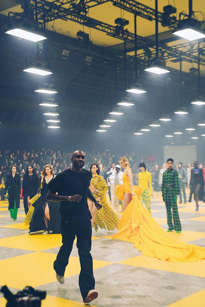 Abloh concludes the autumn/winter 2019 Off-White womenswear runway show