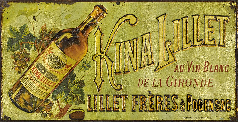 The first Kina Lillet advertising plate, 1896