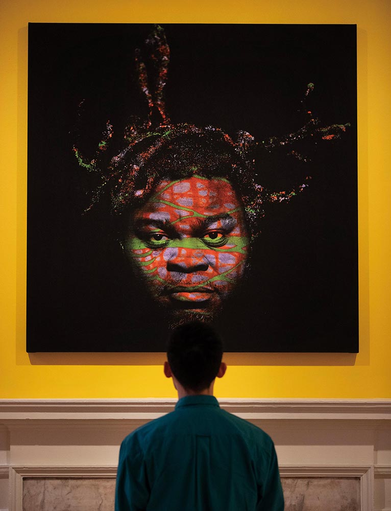 Yinka Shonibare, Self Portrait (After Warhol) 6 (2013)