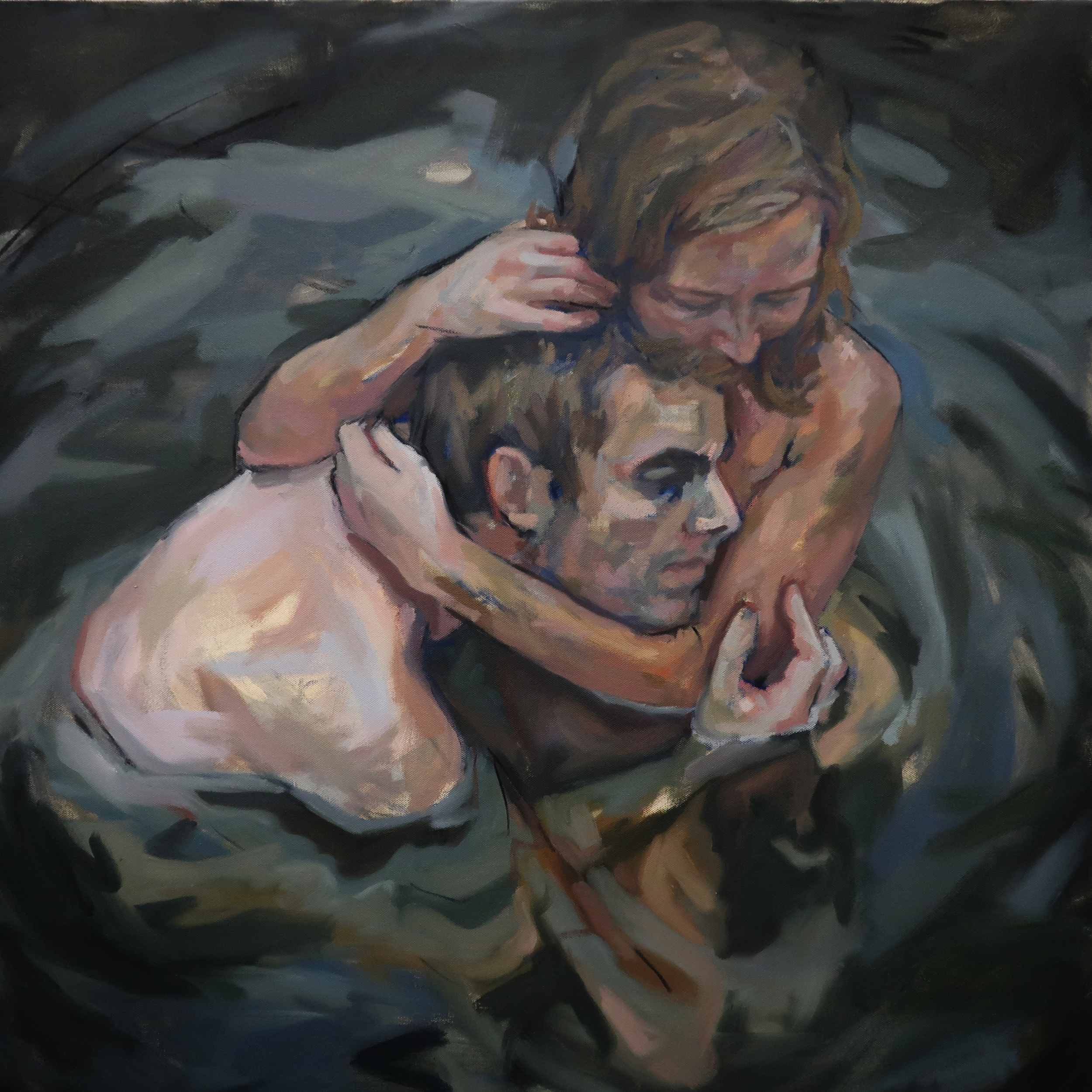 Hold, 2019, Oil on Canvas, 30x30""