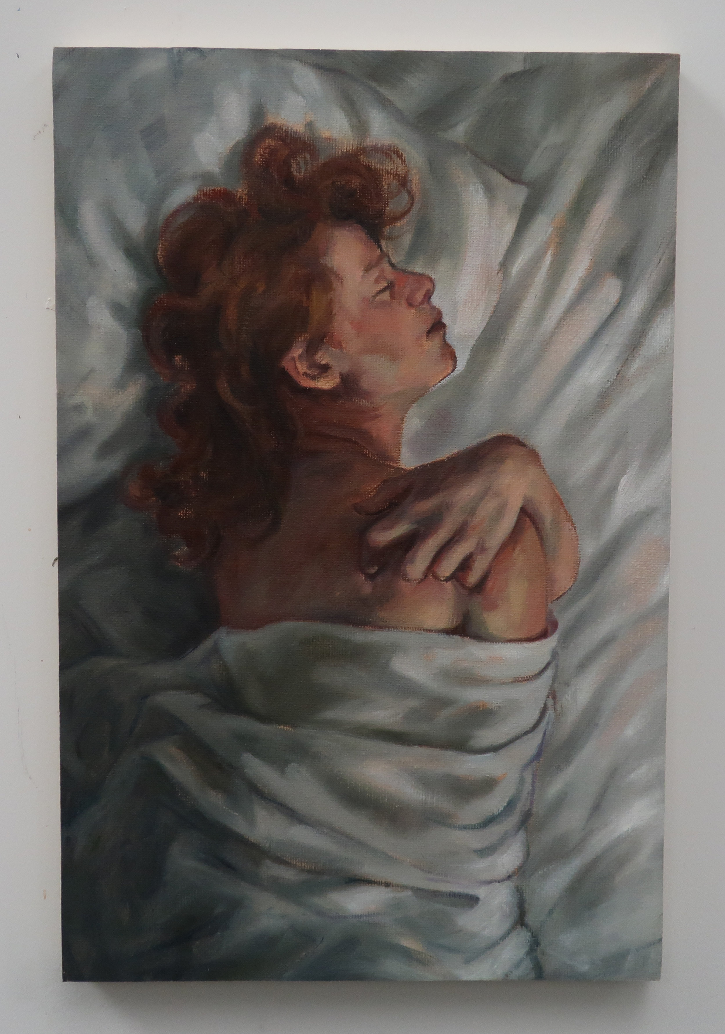 Morning in Bed, 2018, Oil on Canvas, 13x9
