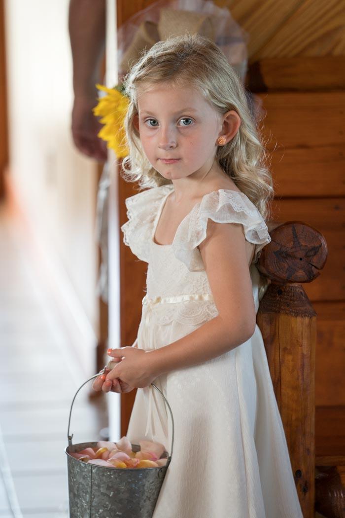 Flower girl at Wyatt Wedding