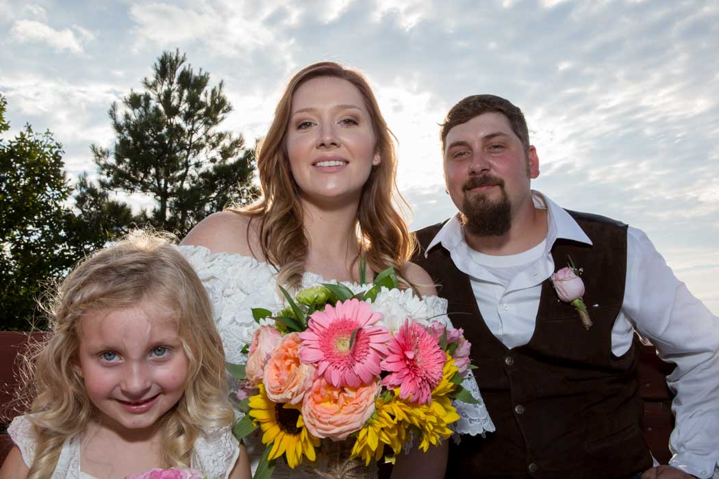Groom and Bride and Daughter