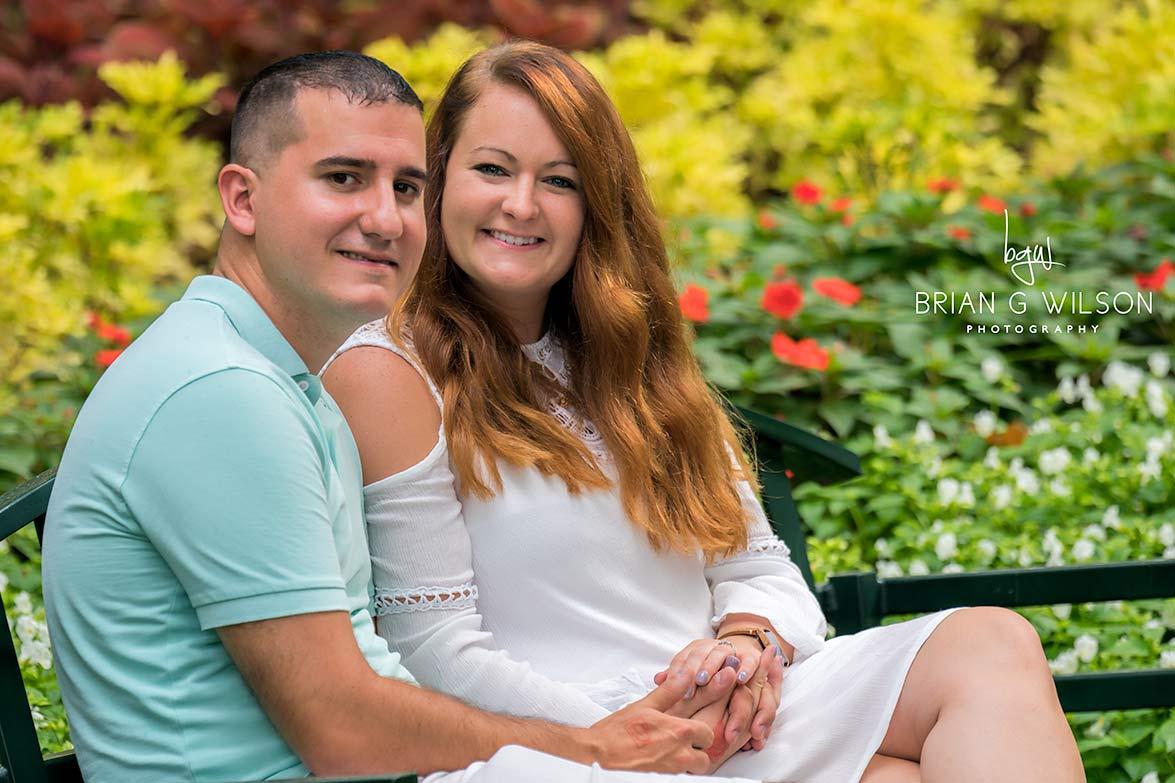 Couple on park bench at Garvan Gardens