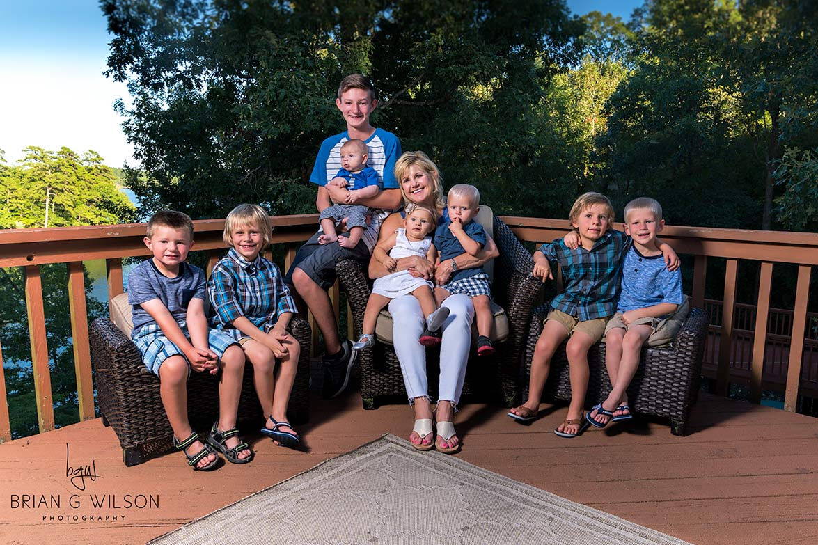 Grandmother with eight grandkids!