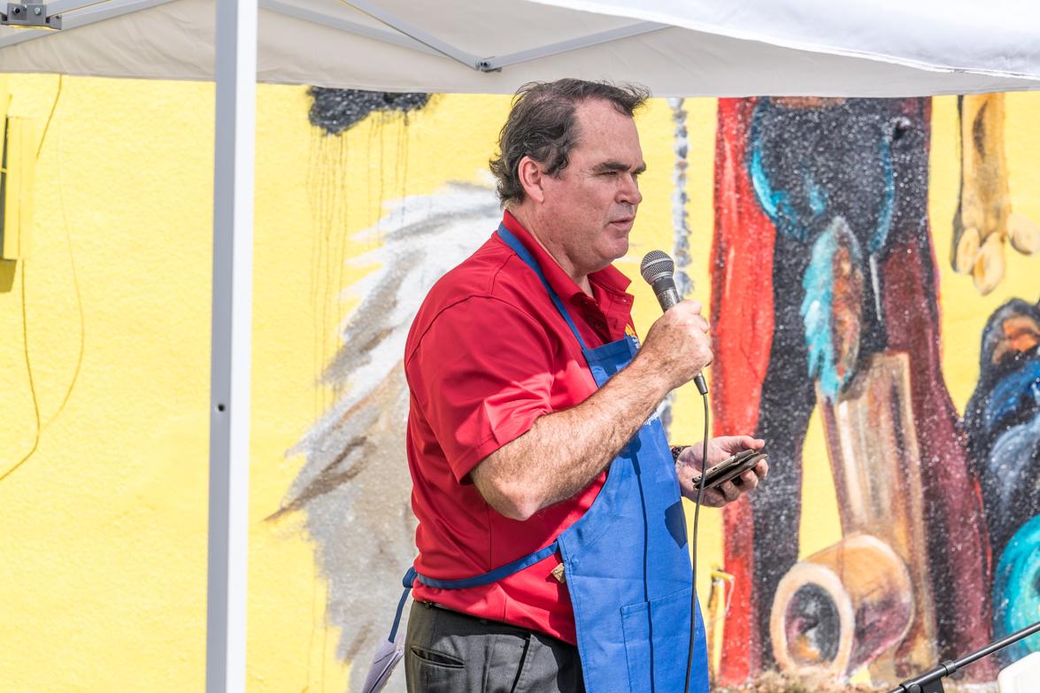 Rotary President Don Gooch speaks