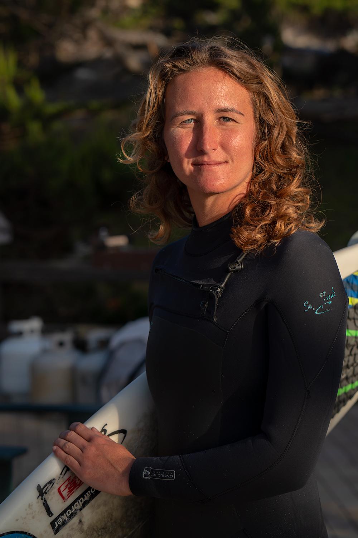 Melissa the surfer girl.