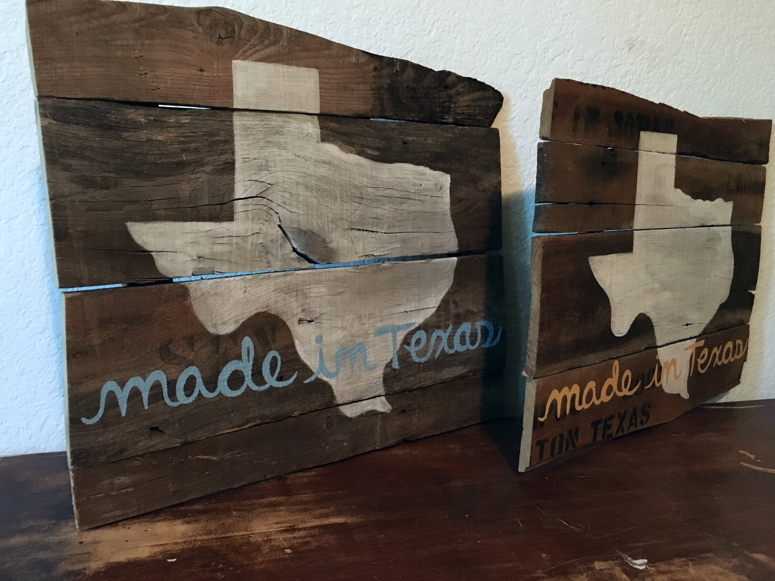 Made in Texas Blue and Yellow