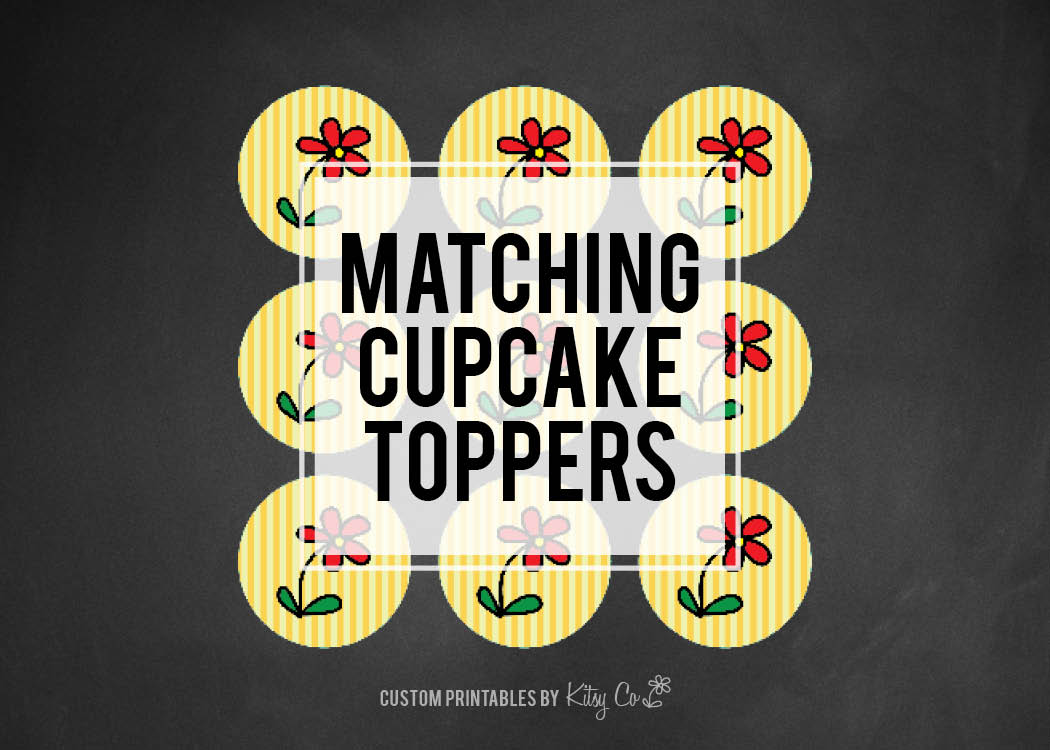 Circle Cupcake Toppers