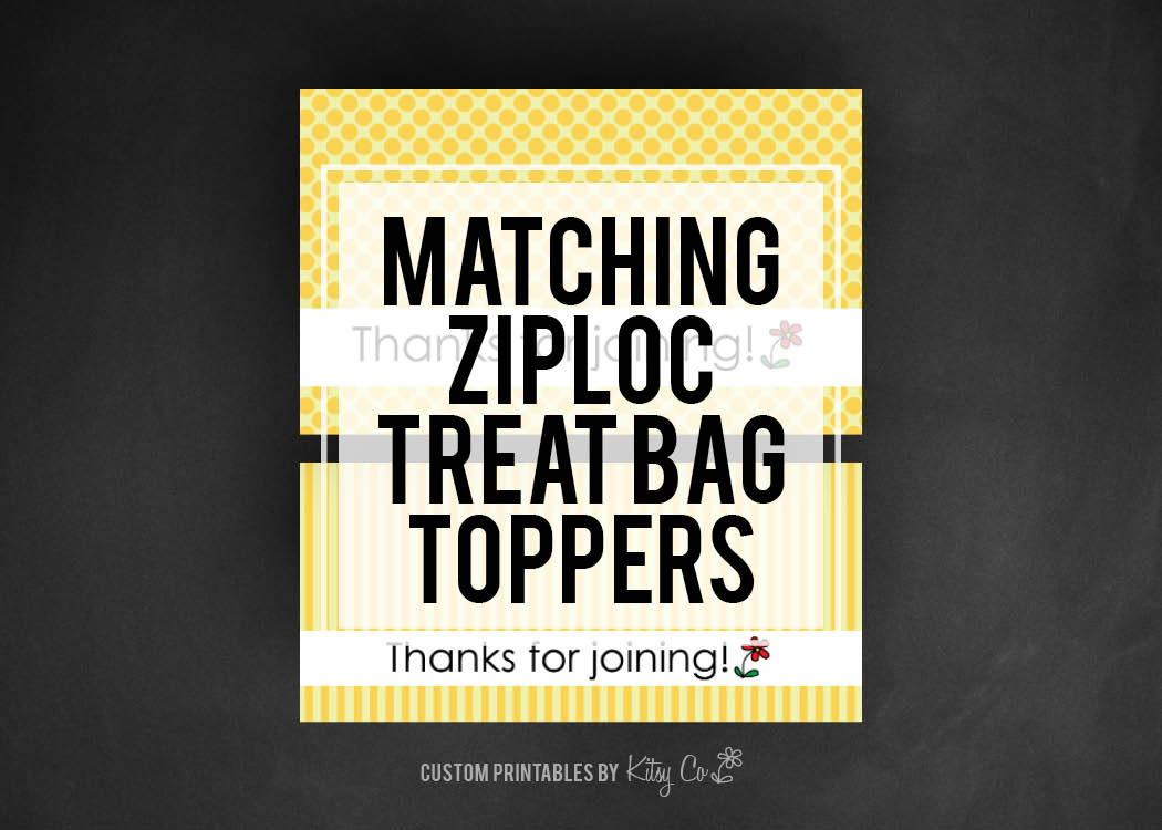 Ziplock Treat Bag Toppers