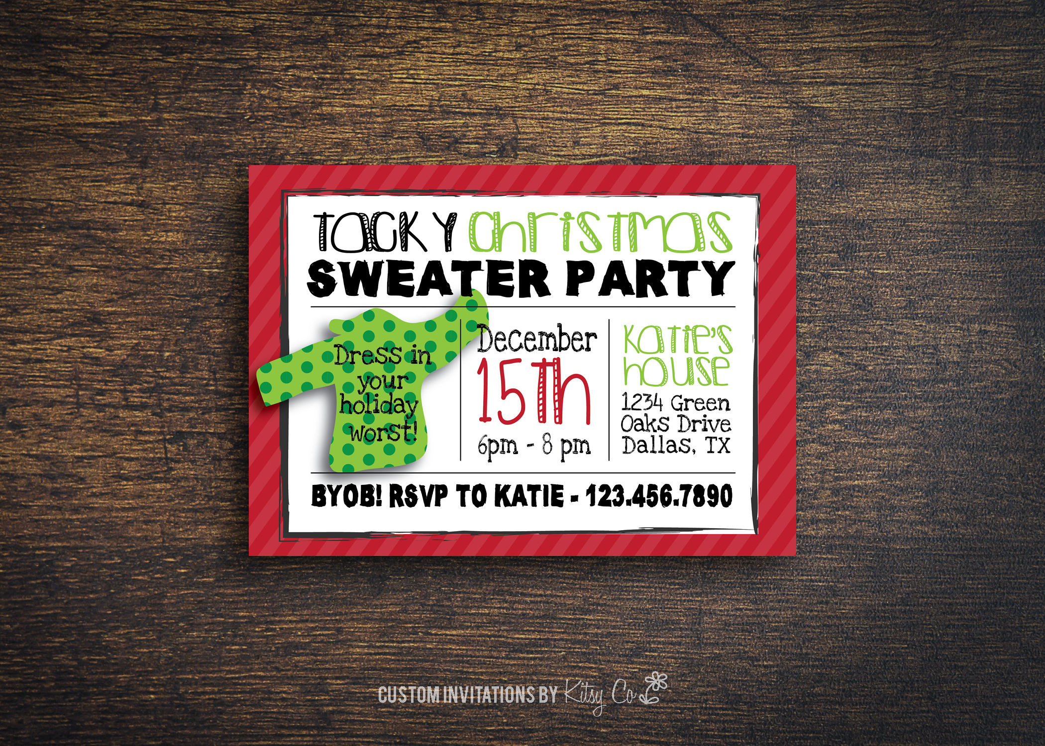 Tacky Sweater Party