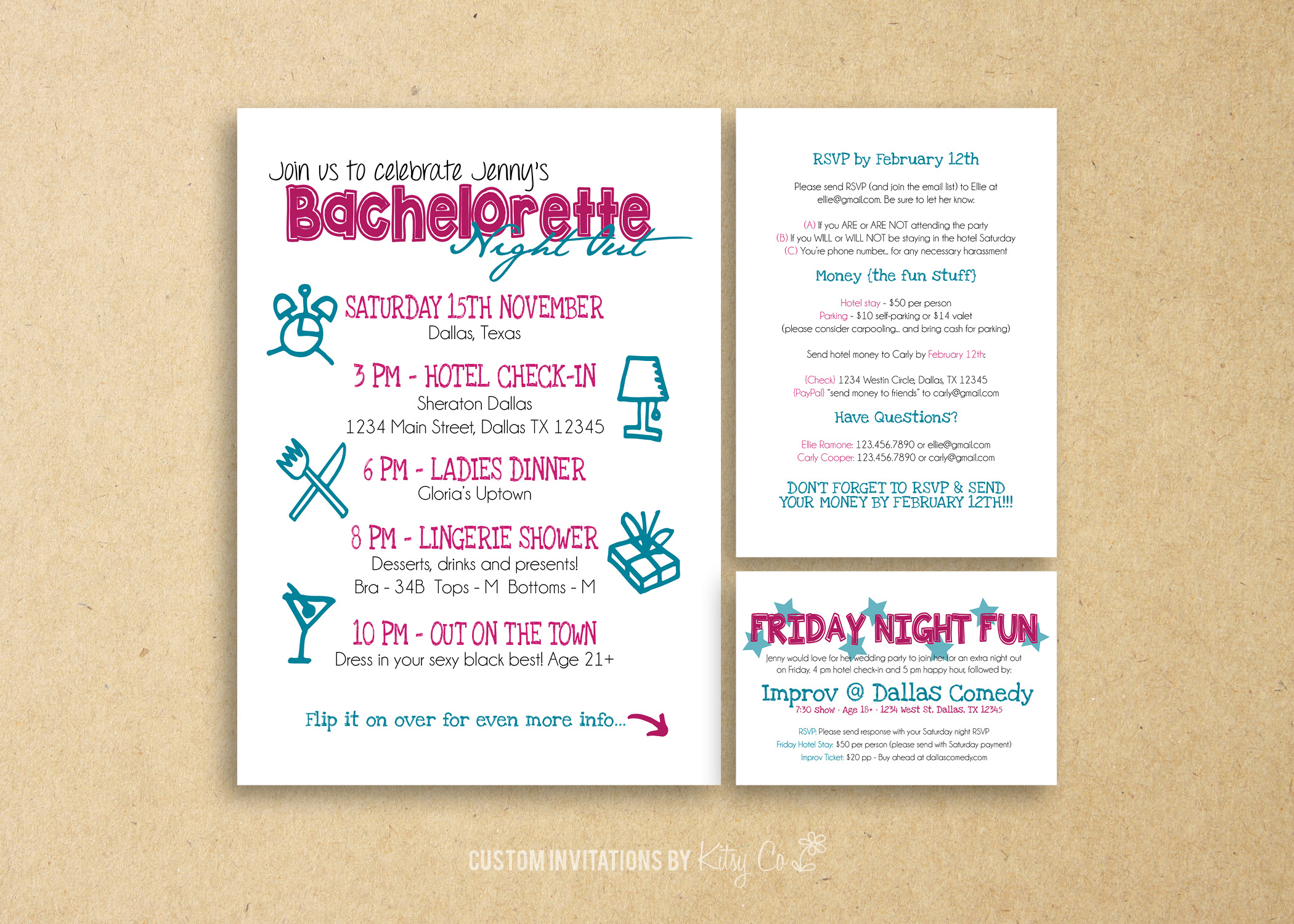Bachelorette Party Timeline