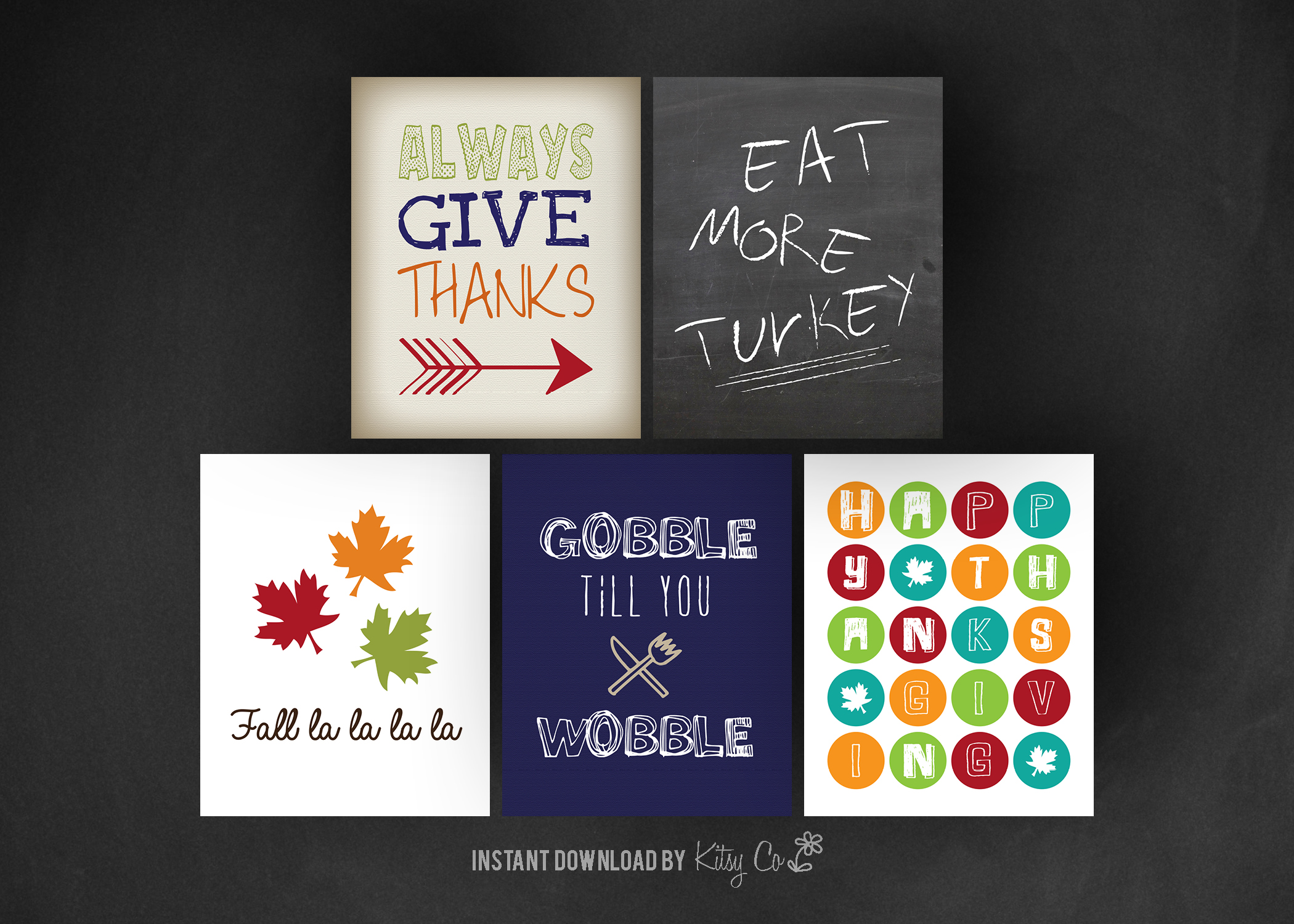 Thanksgiving Art Print Set