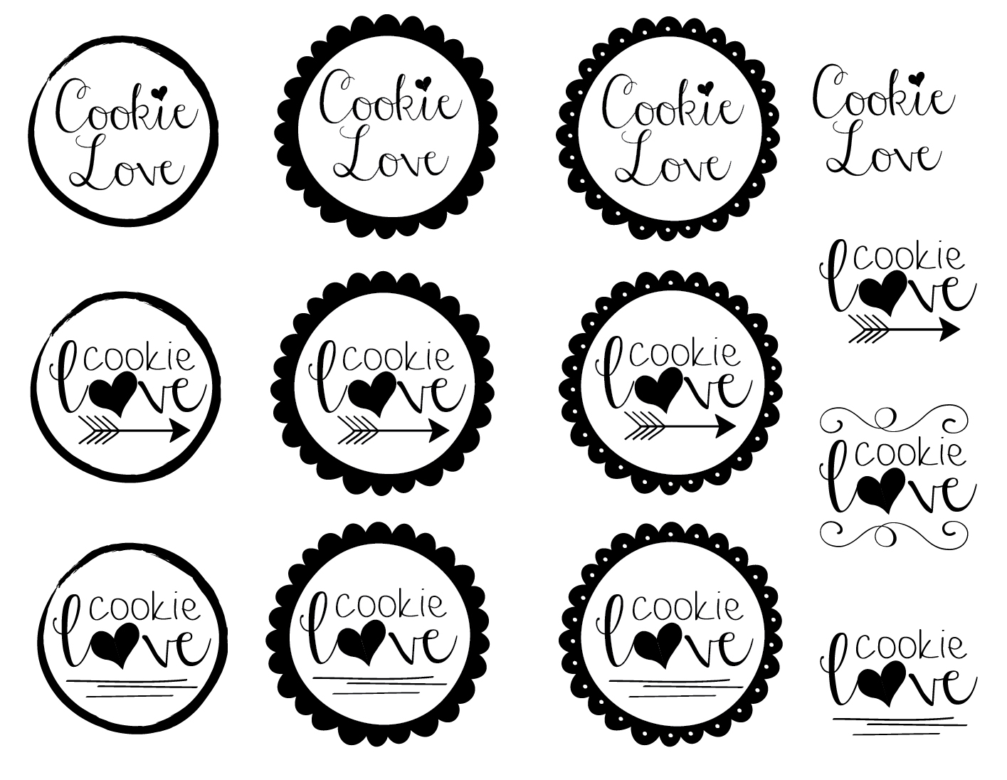 Cookie Love Logo Drafts