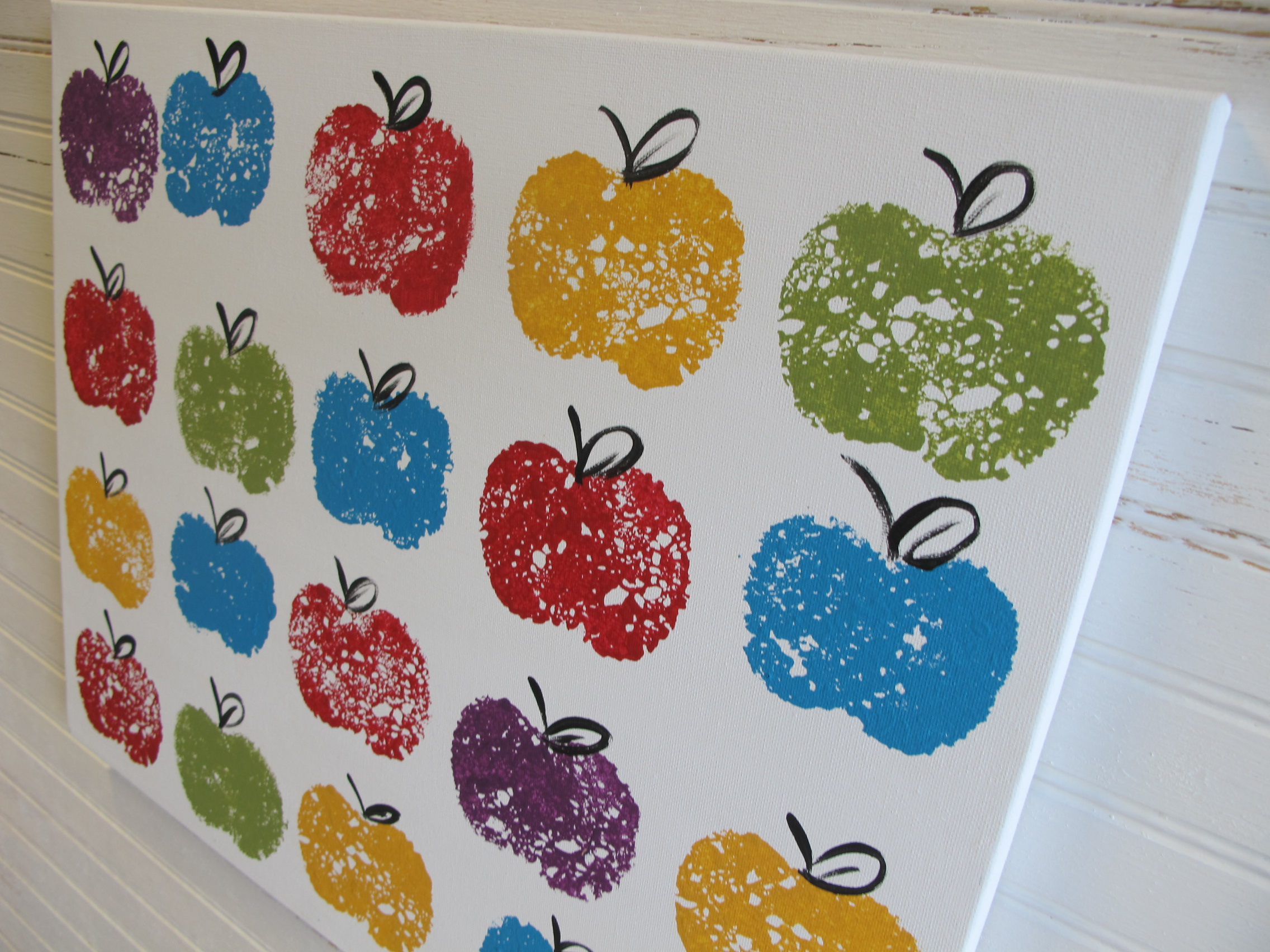 16x20 Repeat Colorful Apples - $50