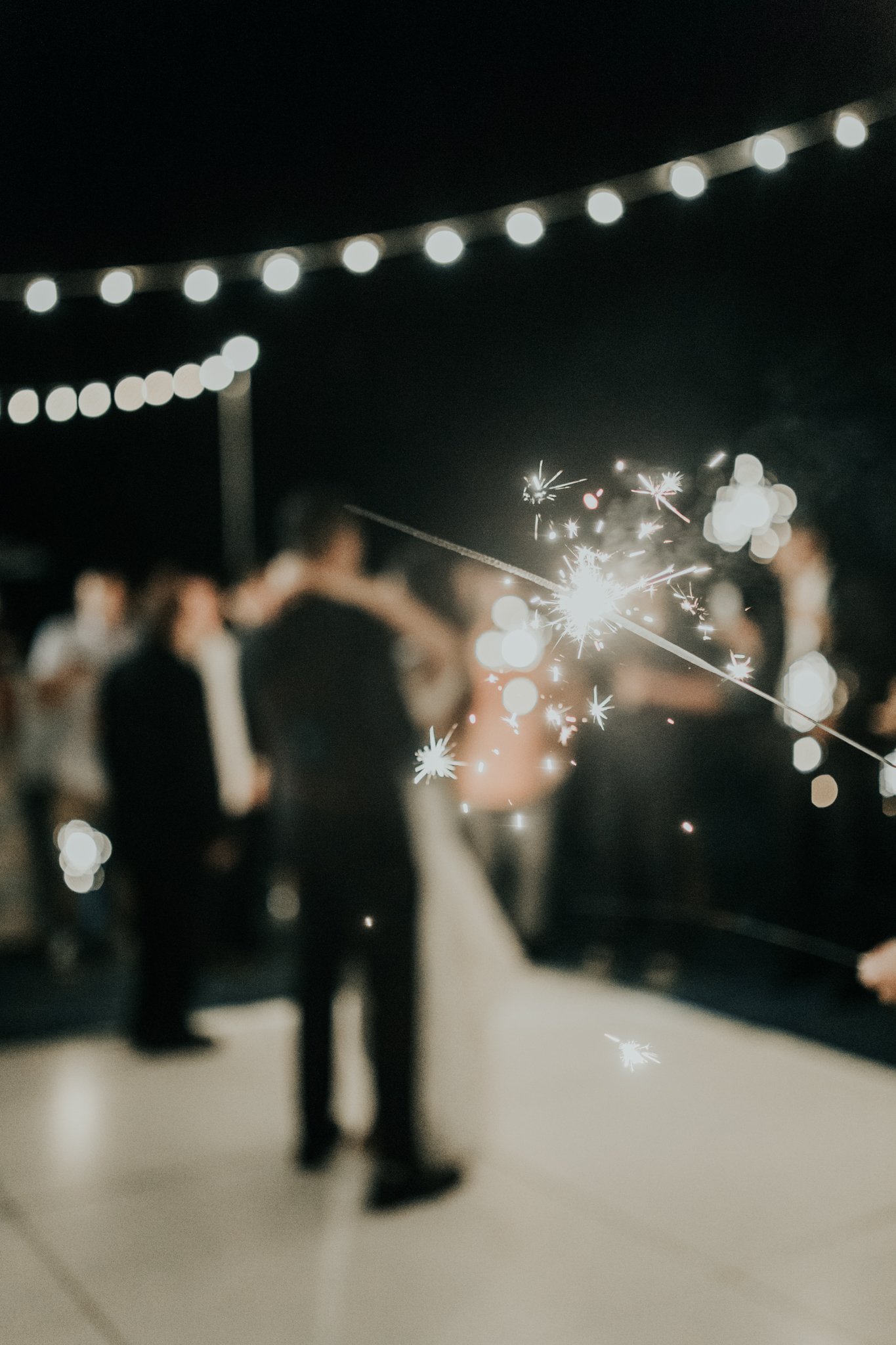 Sunset Ranch Hawaii Wedding Sparklers