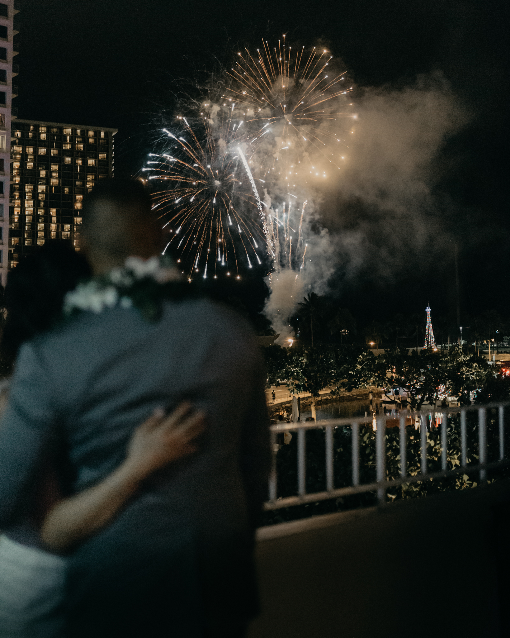 Waikiki Fireworks Wedding