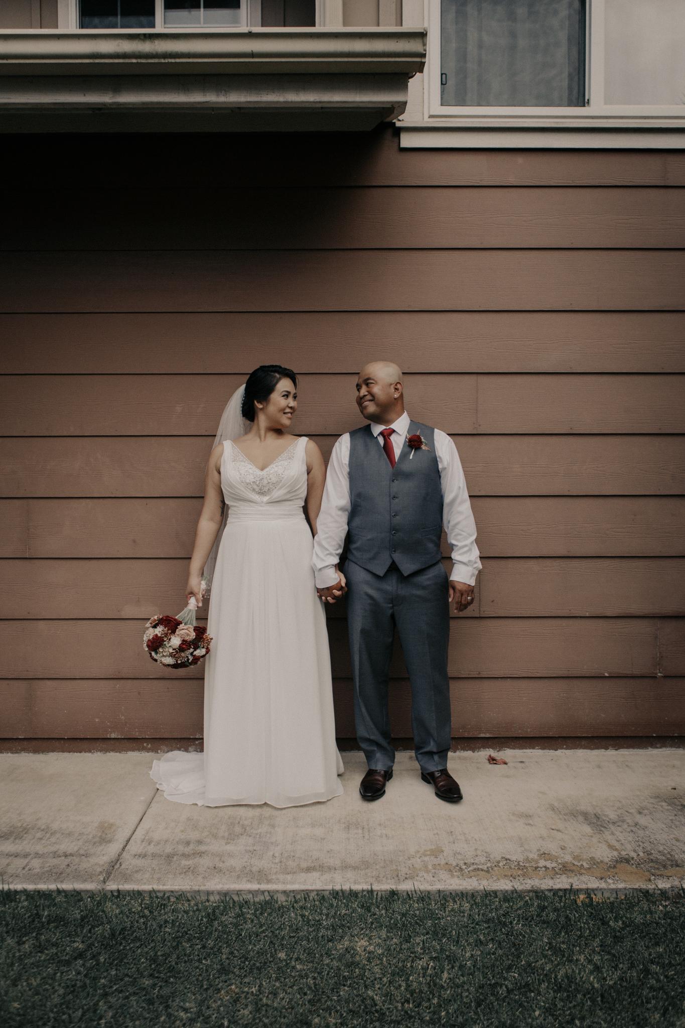 Backyard wedding in Oahu