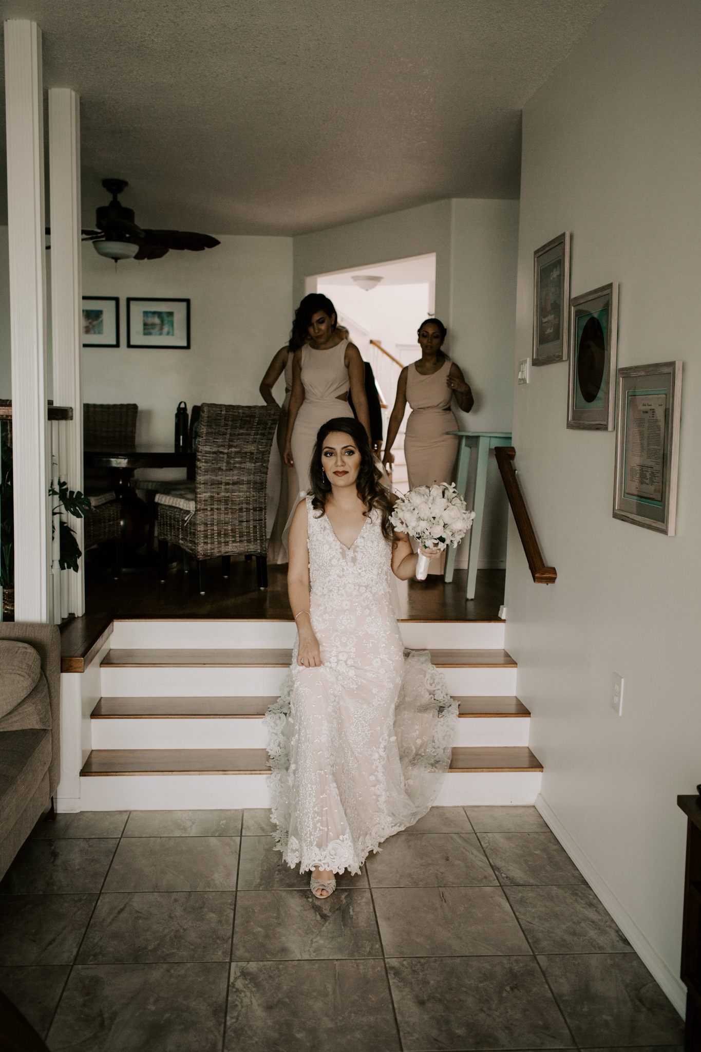 Bride about to walk down the aisle