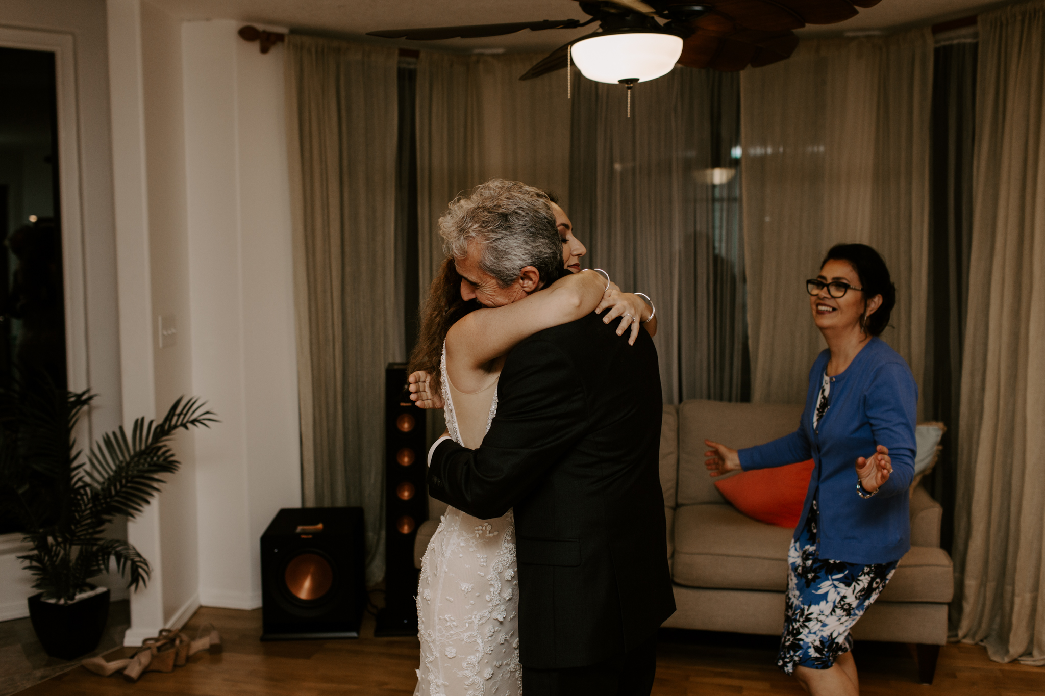 Parents dancing with the bride