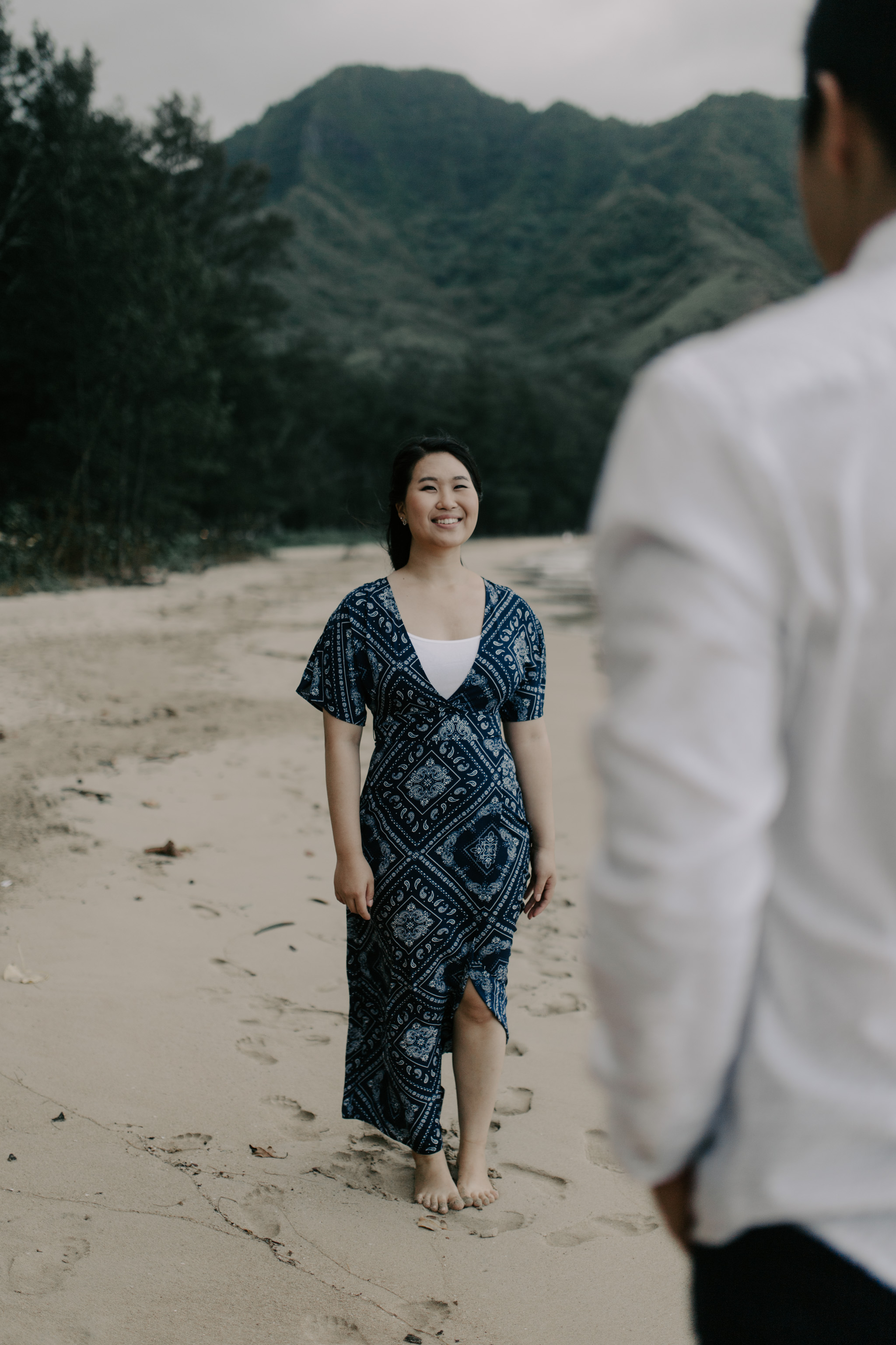 Hawaii Mountain and Beach Engagement Session by Desiree Leilani Hawaii Wedding Photographer