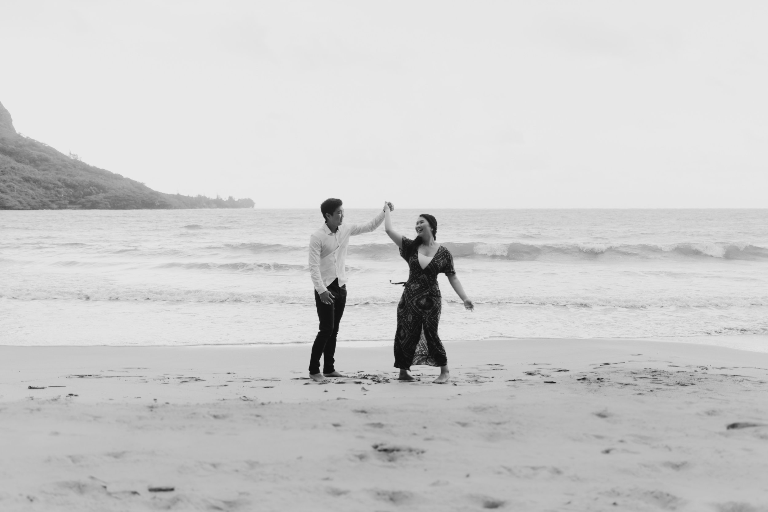 Kahana Bay Engagement Session by Desiree Leilani Oahu Wedding Photographer