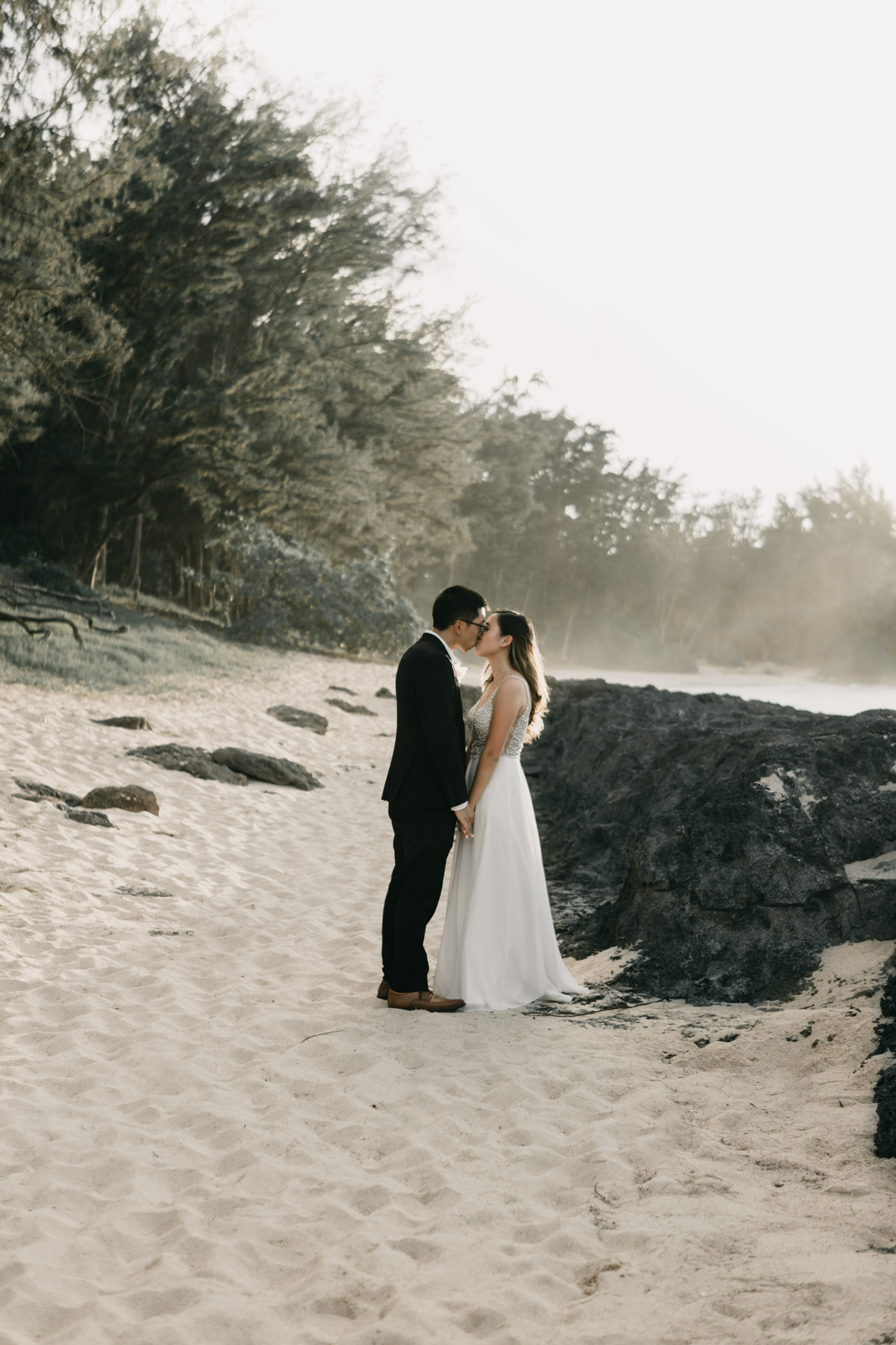 Stables Beach at Turtle Bay Hawaii Wedding Photographer