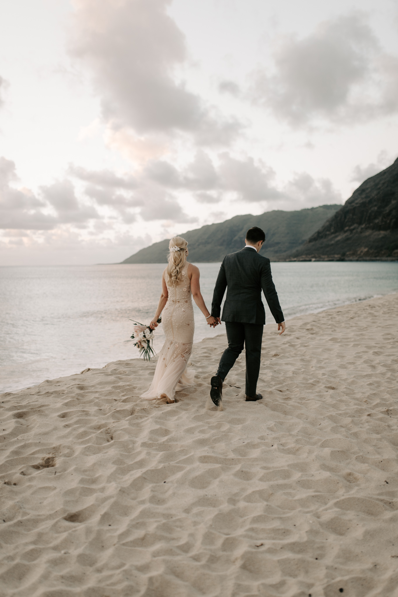 Hawaii Beach Wedding by Desiree Leilani Photography