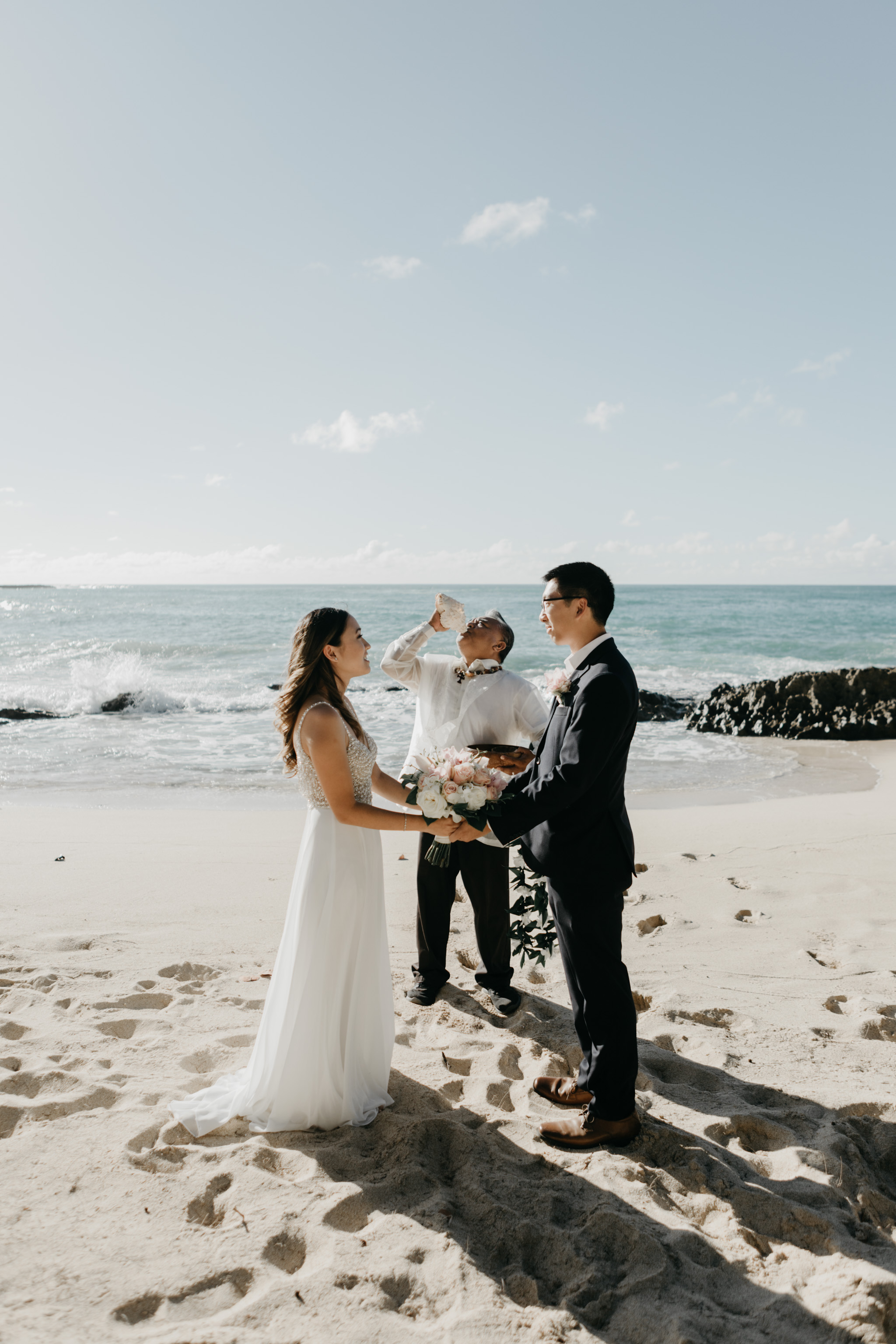 Turtle Bay Stables Beach Elopement by Hawaii Fine Art Photographer Desiree Leilani
